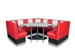 Banquette d'angle Sixties 3/4 .