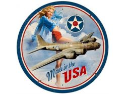 Plaque XL Pin up Avion