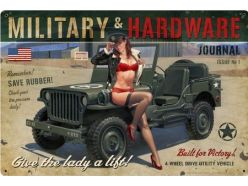 Grande plaque XL Jeep Army PIN UP