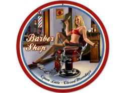 Plaque XL Barbershop Girl