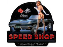 Grande plaque XL PIN-UP-CORVETTE