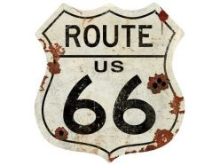 Grande plaque XXL ROUTE-66 USA