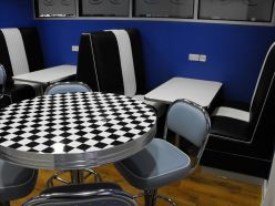 Plateau de table en damier