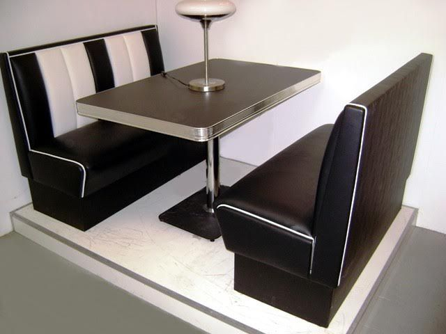 banquette diner am ricaine vintage d coration us 50 39 s et 60 39 s. Black Bedroom Furniture Sets. Home Design Ideas