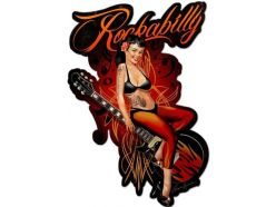 Grande plaque Rockabilly Tatoo Girl