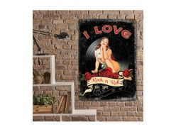 Grande Plaque XL I Love Rock