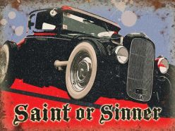 Grande Plaque XL Sinner Hot Rod