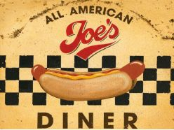 Grande Plaque XL Joe's Diner