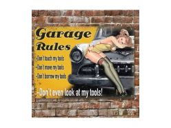 Grande Plaque XL Garage Rules