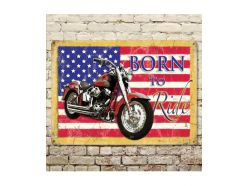 Grande Plaque XL Born To Ride