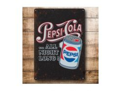 Grande Plaque XL Pepsi Cola All Noir