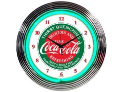 Horloge Néon Coca Cola Evergreen