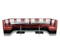 Banquette d'angle Sixties .