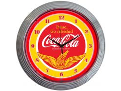 Horloge Néon Coca Cola Wings