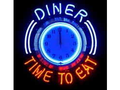 Horloge Diner Time To Eat